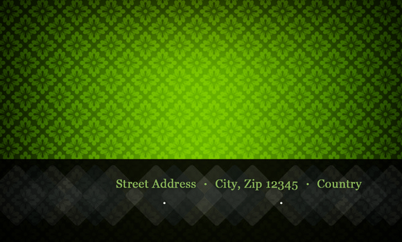 PT Green Pattern Business Card