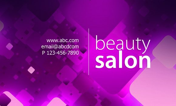 N9 Beauty Salon Business Card