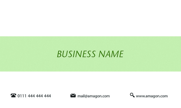 PT Green Business Card Back
