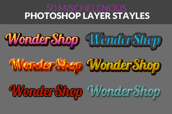 50 Misc Photoshop Layer Style