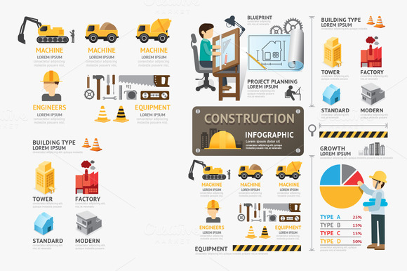 Construction Template Infographic