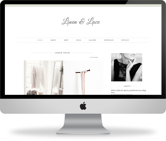Linen Lace Blogger Template