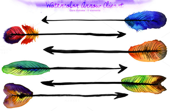 Watercolor Arrow Clipart