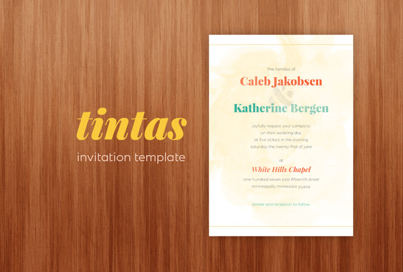 Tintas Invitation Template