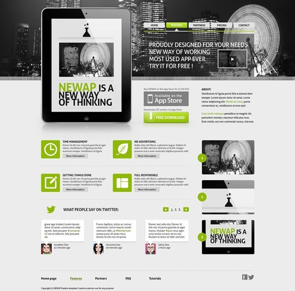 N9 Newap App Website Template