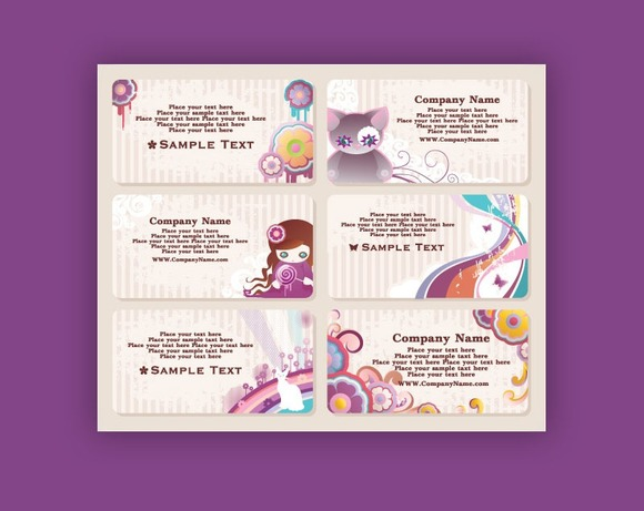 N9 6 Cute Style Business Cards