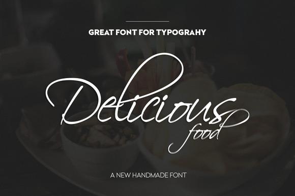 40% OFF Delicious Script Font