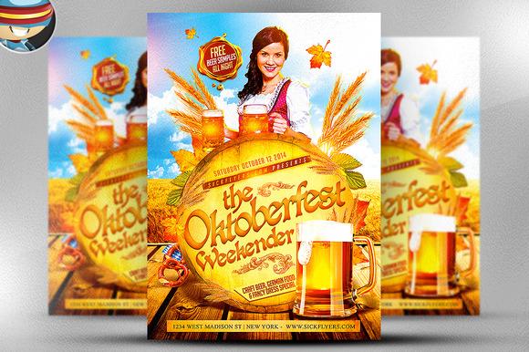 Oktoberfest Weekender Flyer Template