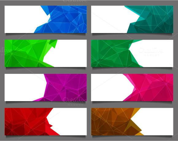 Set Of Abstract Triangle Banners