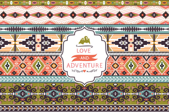 Ethnic Vector Colorful Pattern