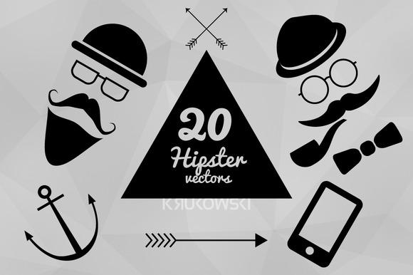 Hipster Vectors Set