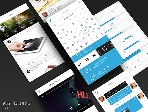 IOS Flat UI Set Vol 1