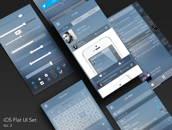 IOS Flat UI Set Vol 3