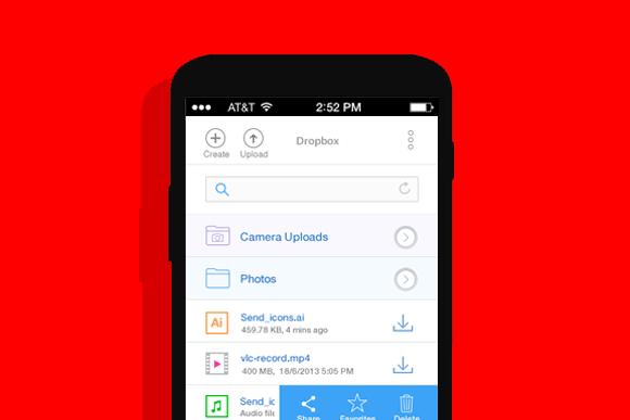 Dropbox Mobile UI