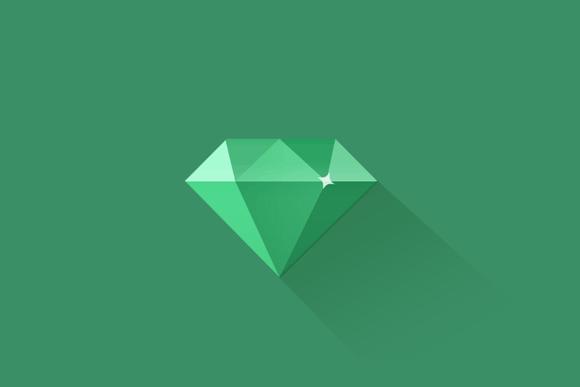 Flat Diamond Icon