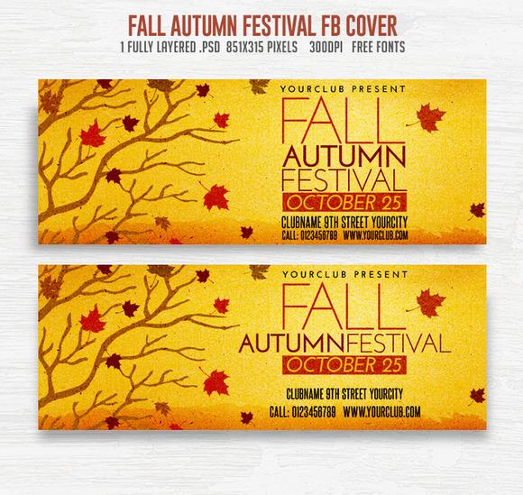 Fall Autumn Festival FB Cover