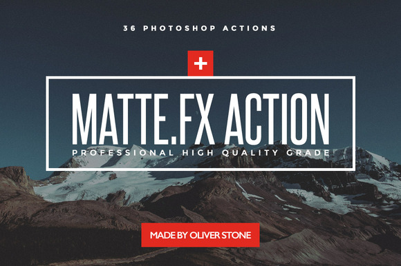 Matte Effect PS One-Click 36 Actions
