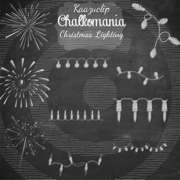 Chalkart Christmas Lighting Set