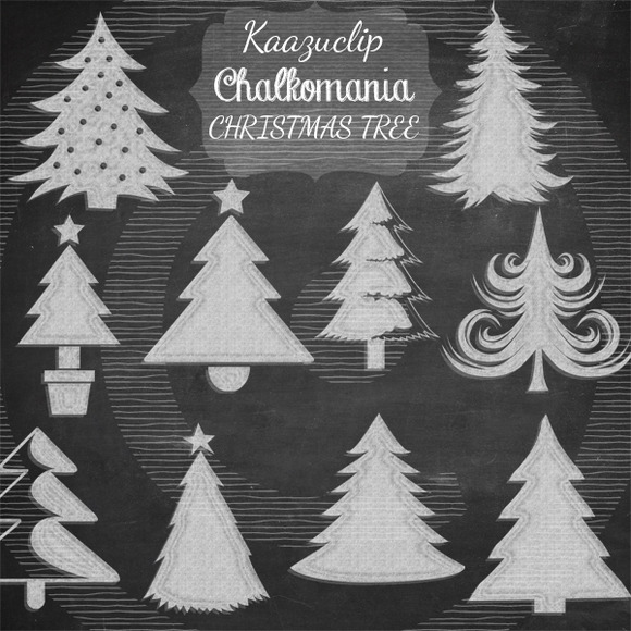 Chalkart Christmas Tree Set