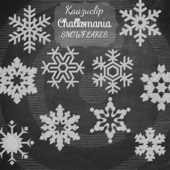 Chalkart Snowflakes Set