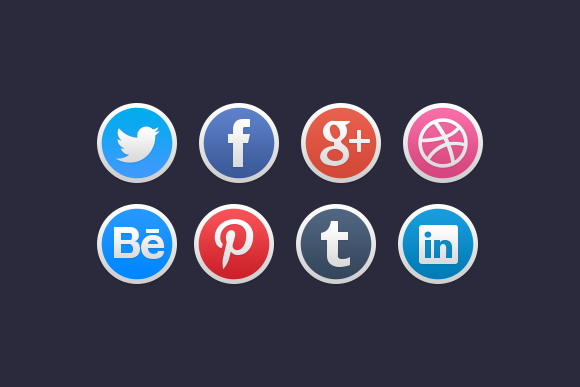 Stylish Social Media Icons