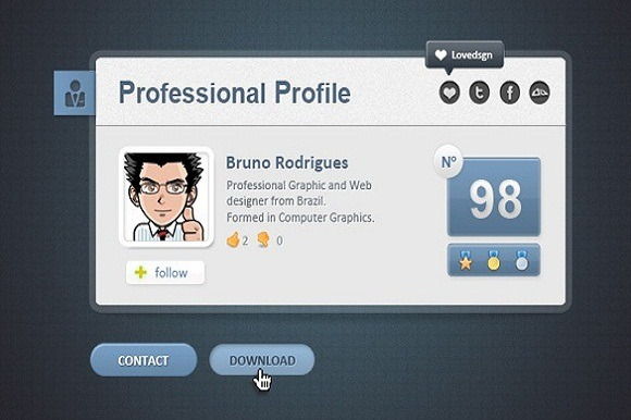 PT Professional Web Card Profile