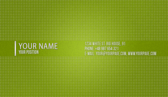PT Green Dotted Business Card