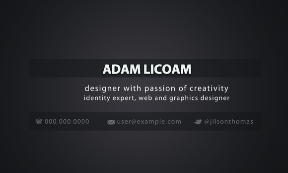 PT Print Ready Black Business Card