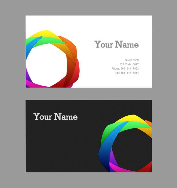 V3 Business Card Rainbow
