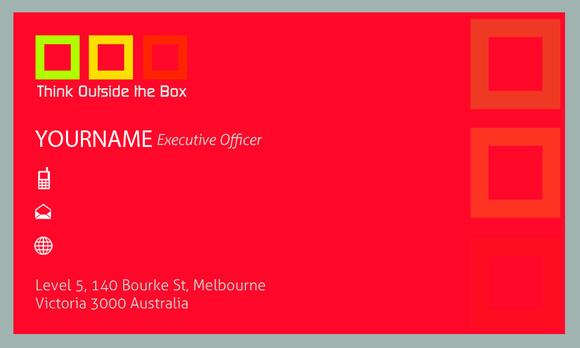 V3 Business Card Box Black