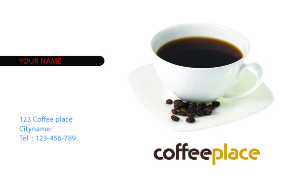 V3 Awesome Coffee Business Card
