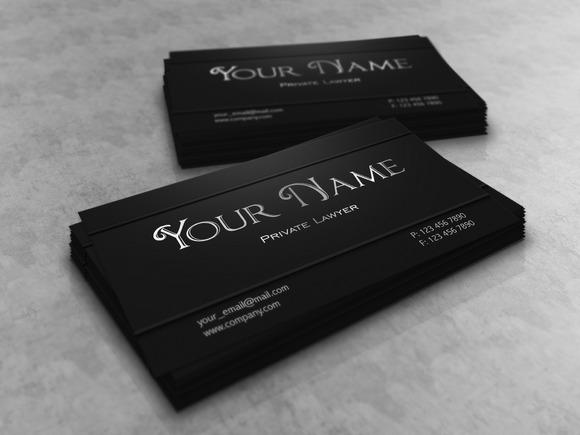 V3 Dark Lawyer Business Card