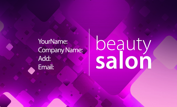V3 Beauty Salon Business Card