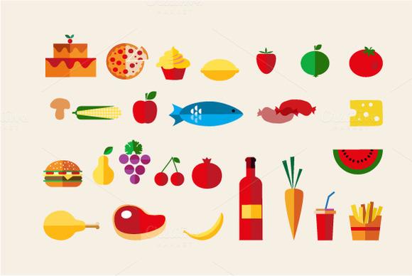 Food Icon Vector Set 26
