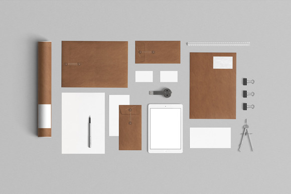 Stationery Mock Up Kraft Paper