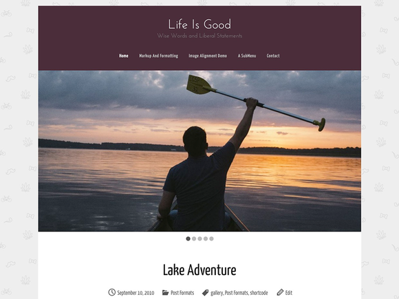 Life Is Good WordPress Blog Theme