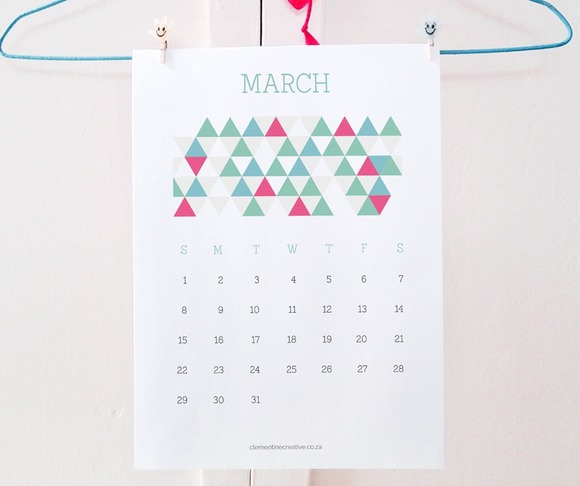 Printable 2015 Calendar Patterns