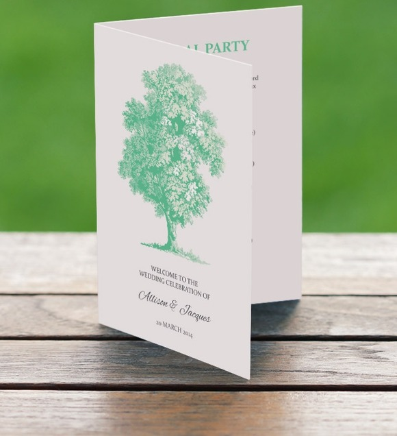 Printable Wedding Program Tree