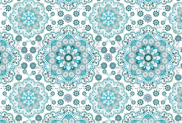 2 Seamless Floral Vector Patterns