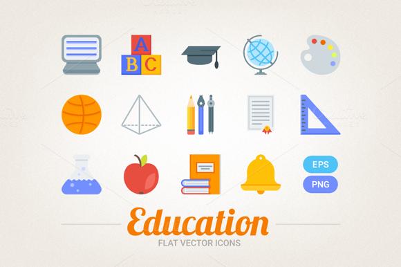 Flat Educational Icons