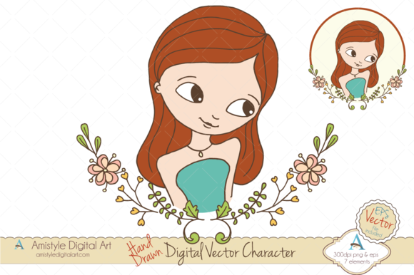 Woman Avatar Clipart Vector 19442 3