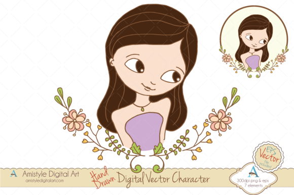 Woman Avatar Clipart Vector 19442 4