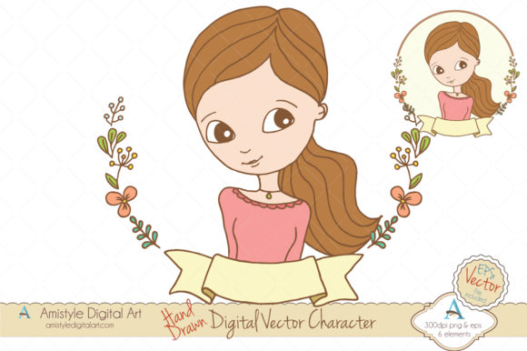 Woman Avatar Clipart Vector 19443 2