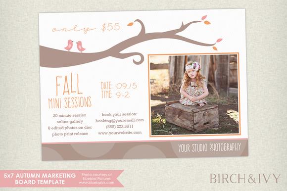 Fall Mini Sessions Marketing Board