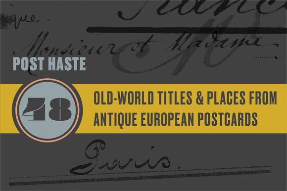 Poste Haste Titles Places
