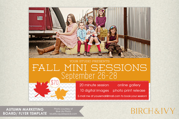 Fall Mini Session Flyer Template