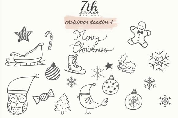 Christmas Doodles 4