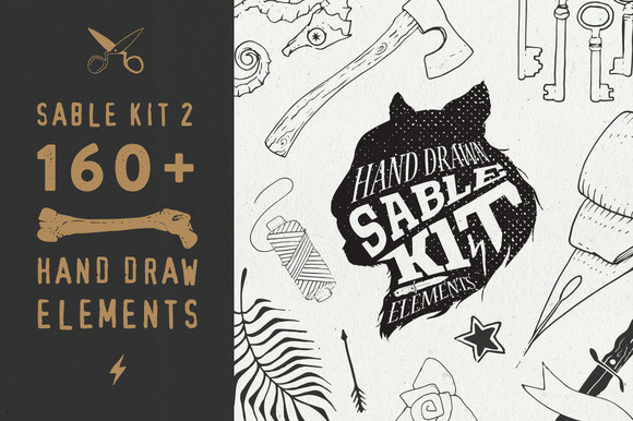 Sable Kit 2 Hand Drawn Collection