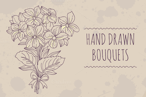 Hand Drawn Bouquets