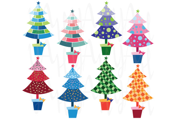 Christmas Trees Element